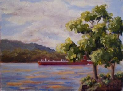 vanderbilt-red-barge-late-afternoon-6×8-500.jpg