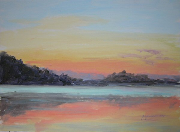 070812 Serene Sunrise Acrylic 9x12 600