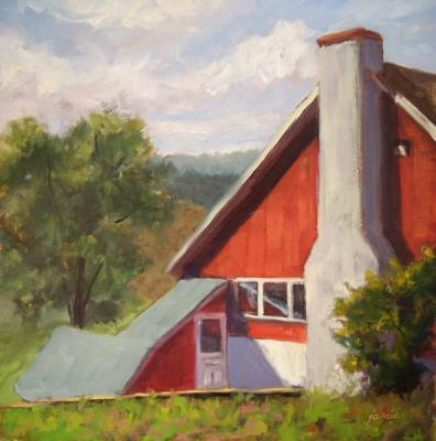 081002-sunlight-on-the-lodge-12x12-600