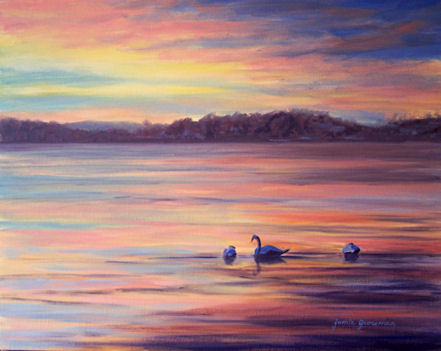 090820-Swans-on-Ice-at-Sunrise-16x20-450