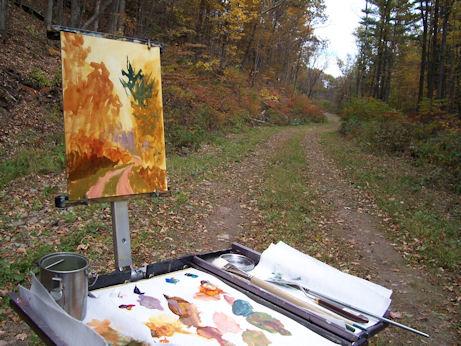 091209-The-Road-Home-fall-scene-easel-450