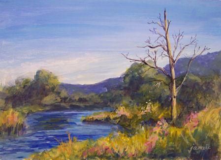 100122-Creek-with-Dead-Tree-5x7-acr-450