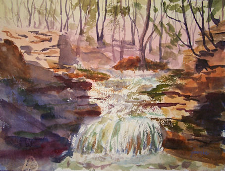 100320-Afternoon-by-the-Waterfall-9x12-wc-450