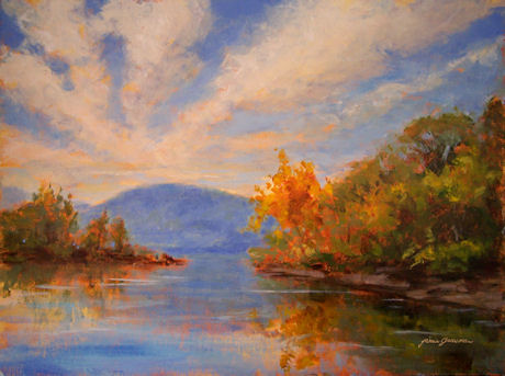 100328-Hudson-River-View-from-Bannerman-12x16-GO-450