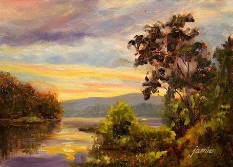 100613-Sunset-Over-the-Reservoir-5x7-450dk