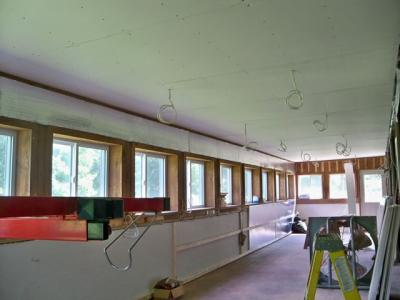 Studio-ceiling-wired-sheetrocked
