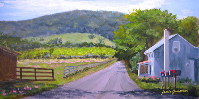 Monday Sunrise Blogging 100906 >> Hudson Valley Painter Blog Archive Red Mailbox Flags On A
