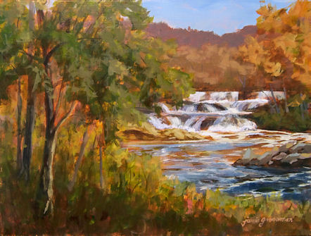 101111-Autumn-at-Tioronda-Falls-b-12x16-GF-450