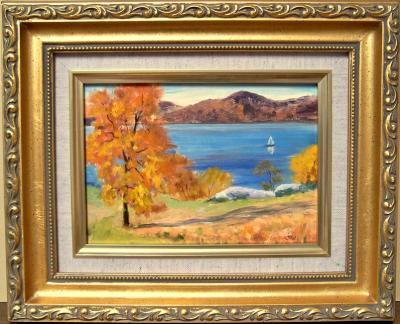 101112-Afternoon-Sail-Past-Rockwood-5x7-framed-800b