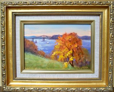 101116-Tarrytown-Lighthouse-Tappan-Zee-from-Rockwood-5x7-framed-800