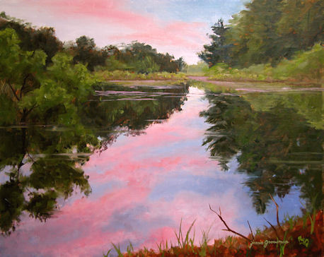110125-Sunset-at-the-Beaver-Pond-16x20-450