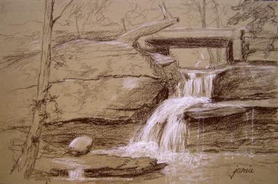 110926-Artists-Nest-Falls-Tonal-Sketch-7x11-720