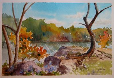 111007-Pelton-Pond-in-Fall-7x11-wc-720