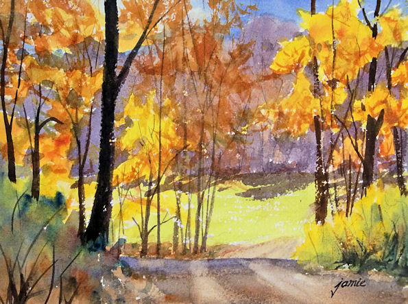 Hudson Valley Painter » Blog Archive » Backlit Meadow in Fall