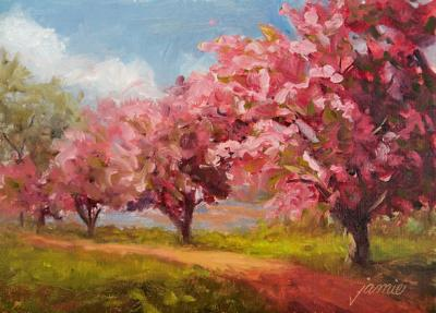 Cherry-Blossoms-on-the-Hudson-5x7-600