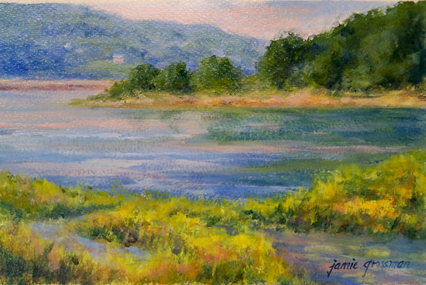 Hudson Valley Painter 187 Golden Open Acrylic Paintings