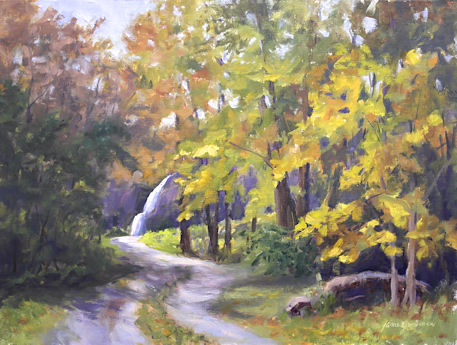 121024-Pathway-to-the-Waterfall-12x16-450adj