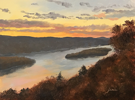 170205 Autumn Sunset Candlewood Lake 6x8 435