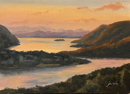 170310 Hudson River Sunset 5x7 435