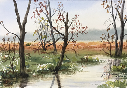 170601 Spring in the Great Swamp 7x11 wc 435