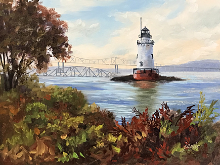 171025 Sleepy Hollow Lighthouse 6x8 435