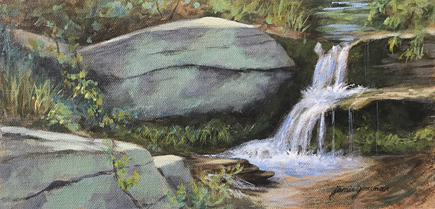180624 Waterfall and Whale Rock 6x12 ac 435