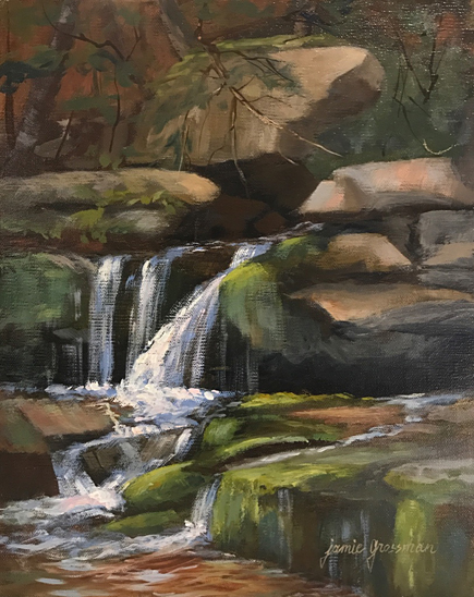 Waterfall in the Woods 10x8 435w